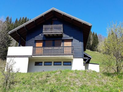 Photo for CHALET TO RENT LES GETS - 10 PERS. - NICE VUE VILLAGE - SOUTH COAST - 800 M CENTRAL - WIFI - POELLE WOOD - SHUTTLE