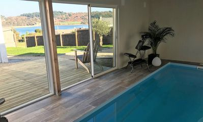 Photo for Gite sea view, TY STEREC private indoor pool 29 ° sauna, port 100 meters