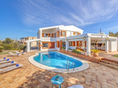 Photo for Villa Garrido Near the Beach with Pool, Wi-Fi, Air Conditioning, Garden, Balcony & Terrace; Parking Available
