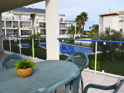 Photo for Beautiful and comfortable apartment in Oliva, on the Costa Blanca, Spain  with communal pool for 6 persons