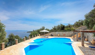Photo for Attractive Villa with Sea Views, Shared Pool, only 120 Meters from the Beach !