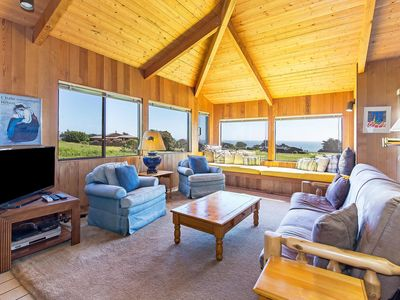Photo for Pet Friendly Ocean View Cottage Close to Shell Beach *WiFi, Hot Tub, Cable*