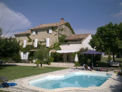 Photo for Provencal farmhouse with pool on 1500 square meters of land in the city center