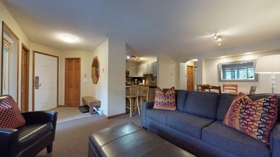 WELCOME to the Lagoons - An amazing location across from the village so that you can leave your car parked for the entire duration of your stay. This cozy ground level condo is the perfect base for exploring Whistler while having all the amenities of home.