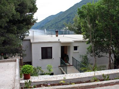 Photo for Two bedroom apartment with balcony and sea view Sobra (Mljet)