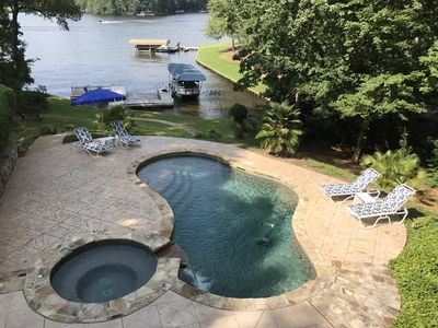 Photo for Adorable lakeside oasis on Lake Oconee with private pool and full size dock.