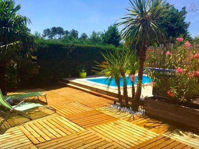 Photo for House Bassin d'Arcachon with heated pool
