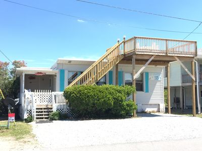 Photo for Myers Cottage- pet friendly and happy beach vibe in the heart of Topsail Beach!