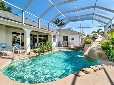 Photo for Villa MAXINE - 4 Bed/2.5 Bath Waterfront Home with Pool and Spa, Waterslide, Boat Dock with Lift.