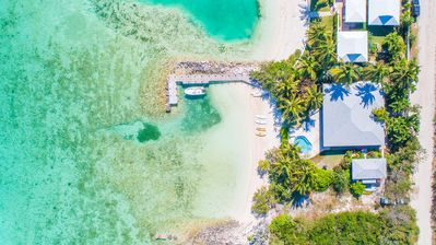 Photo for Luxury 'Beach Villa' with private pool, beach and dock