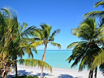 Photo for Bahama Palms Beach Club's premier property directly on Spanish Wells' beach