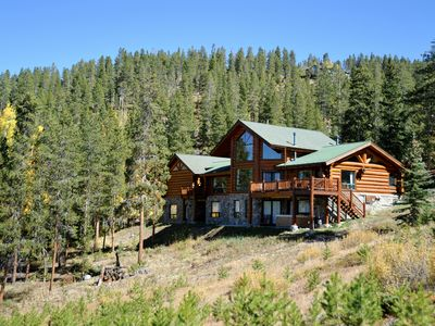 Photo for Luxury Private Log Cabin Home on Stunning 4.5 Acres - NEW LISTING!