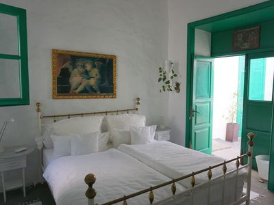 Photo for Double rooms at the Canarian courtyard in the valley of the 1000 palm trees of Haria