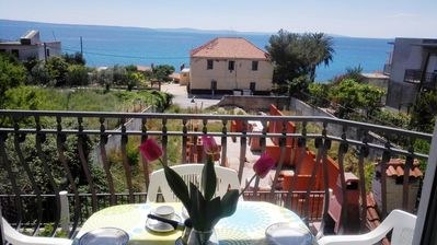 Photo for One bedroom apartment with balcony and sea view Podstrana (Split)