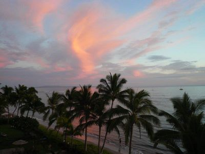 Sunset from your lanai.