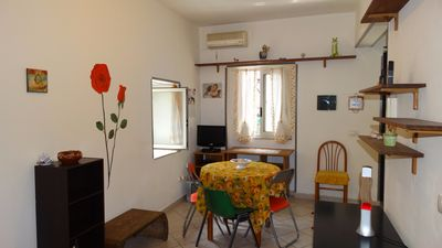 Photo for Bright studio apartment in the center of Catania, ground floor, free Wi-Fi