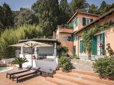 Photo for Villa Amelia lies opposite the bay at Mazzarò just 200 meters from the beach at Spisone and 400 mete