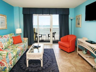 Photo for Baywatch 838, Beautifully decorated 1 BR Ocean Front Condo with Indoor/Outdoor Pools, Lazy Rivers, Hot Tub and Kiddie Pool