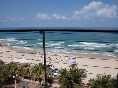 Photo for Beach Front 2 BR & a Superb Sea View