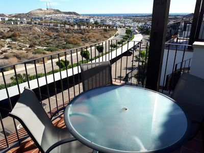 Photo for Andalucia apartment for rent with indoor and outdoor pool, tennis, paddel, sea view