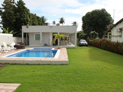Photo for Ilha de Itaparica / Bahia Berlinque - House 5 Bedrooms, w / air. Two suites Swimming pool