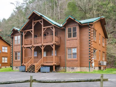 Photo for Serene creekside cabin w/ a private hot tub & woodland views!