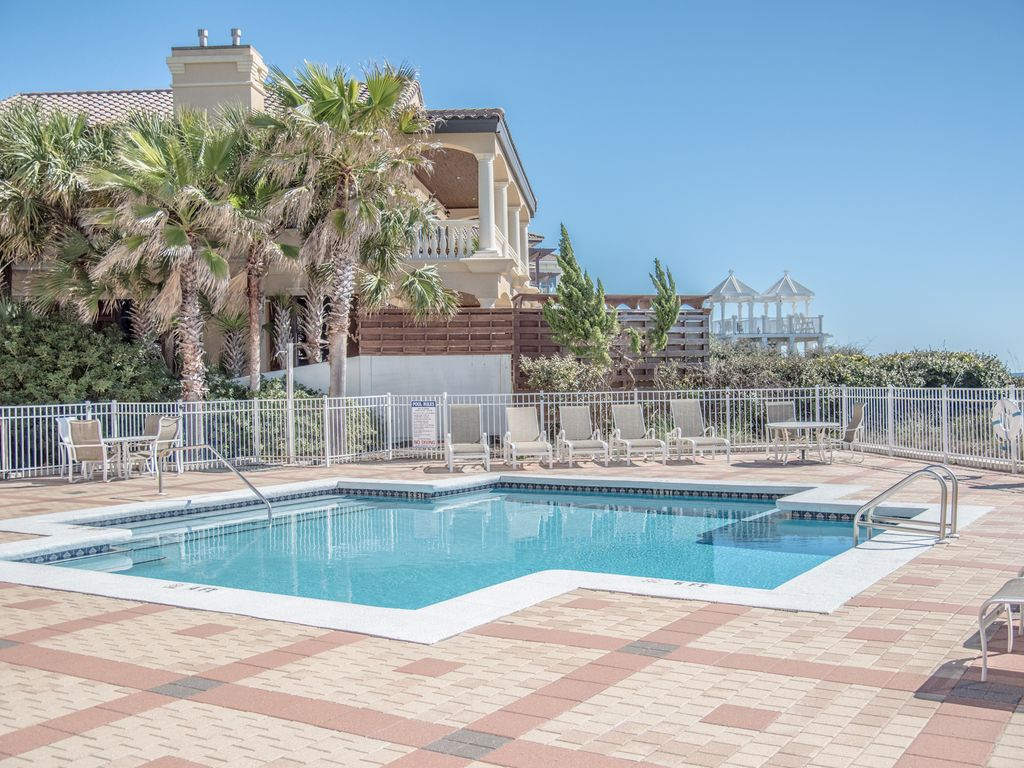 First level condo pool gulf front covered parking blue - Florida condo swimming pool rules ...