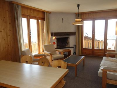 Photo for 2*, 2-bedroom-apartment for 6-8 people located at about 800m from the lift in a calm and sunny envir