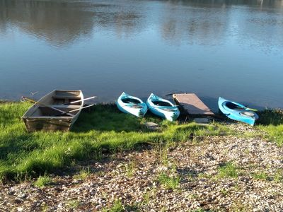 There are 3 kayaks and a small 'john boat' available for guests to use.