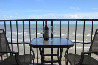 Dine out on the balcony