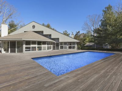 Photo for Sun-Drenched Contemporary East Hampton Gem with Gorgeous pool & deck !!