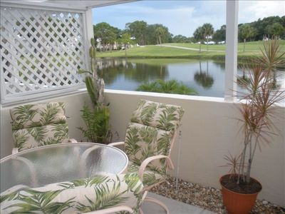 Photo for Ibis Paradise - Lovely 1st floor condo, wonderful patio for relaxing & sunsets.