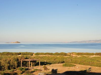 Photo for A beautiful beach house on Plaka beach in Naxos, one minute away from the  beach
