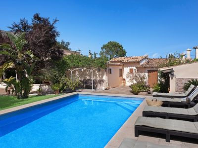 Photo for 3 bedroom country house with fruit garden, pool & outdoor kitchen.15 Mins Walk to Pollensa Old Town