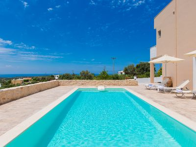 Photo for Villa Domazakis! Private pool, close to beach, country side views, no car needed