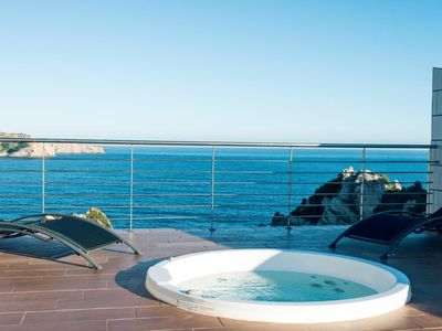 Photo for Noble holiday home Cuba Blue 1 in Majorca for 4 persons with Gem. Pool and priv. Whirlpool, with sea view in Cala Ratjada.