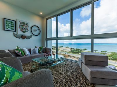 Photo for Tropical Palm Leaves surrounded by a ocean view! 3 bedroom unit AZ-516