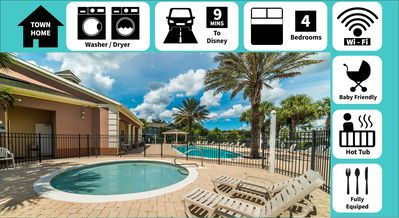Photo for Perfect Townhome for families! Make vacation special w/ private hot tub & patio