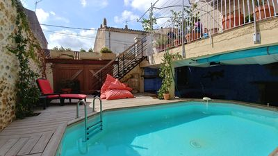 Photo for 3 bedroom, 2 bathroom house with private courytard pool and terrace