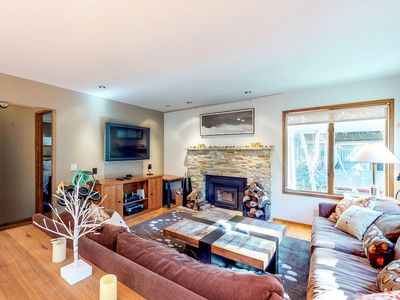 Photo for NEW LISTING! Gorgeous home with shared pool, hot tub, and sauna, walk to slopes!