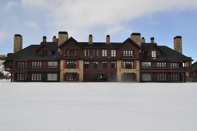 Suite from outside at winter time
