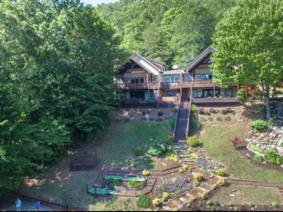 Photo for 9 Bedroom Luxury Lake Retreat w/Private Dock & Lakeside Pavillion