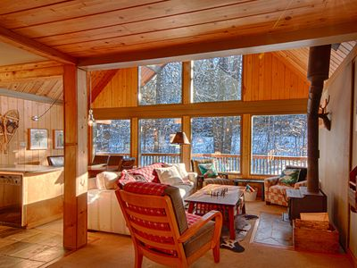 Photo for Beautiful Panorama 4 Bedroom Chalet excellent ski access