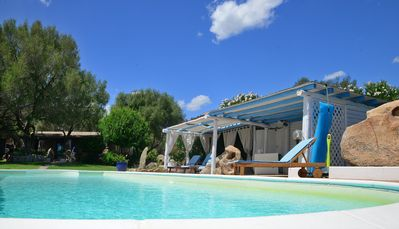 Photo for Detached villa in stone with private pool.