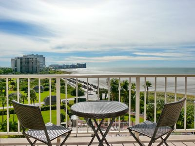 Photo for Sunny Marco Island Beachfront Condo overlooking Pool, Palms and Palapas
