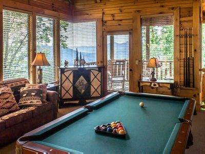 Photo for Cozy cabin with scenic views, hot tub, fireplace, & free passes to local attractions.