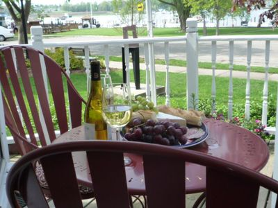 Enjoy a glass of wine on the deck