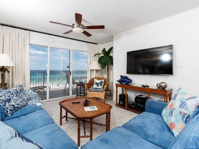 Photo for Direct Beachfront Condo - Free Beach Service & Assigned Covered Parking
