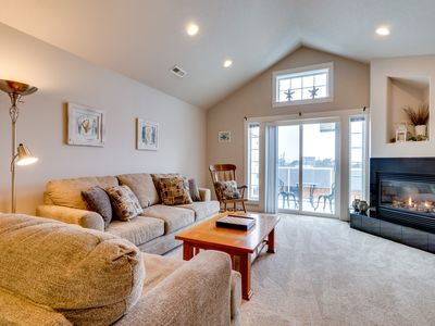Photo for Family-friendly townhouse w/ ocean views - walk to beach & everything in town!
