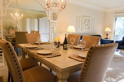 Serve your home cooked feast (or local takeout) to friends & family on our cozy dining room table.